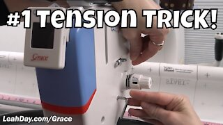 #1 Tip for Great Tension on Grace Qnique Longarms!