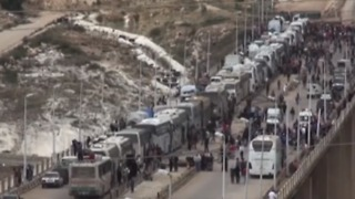 Third Rebel Convoy Prepares to Leave North Homs - Video