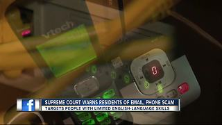 Supreme Court email, phone scam targets immigrants - Video