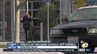 Non-credible threats against two more schools - Video