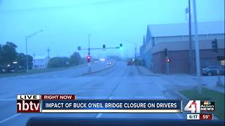 Drivers take detours on first weekday of Buck O'Neil Bridge closure - Video