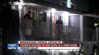 Tourists react to death at Mission Valley hotel - Video