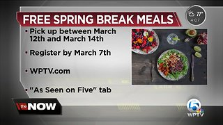 Palm Beach County School District offering meals during Spring Break