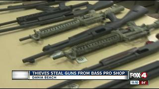 Deputies find guns thieves stole from Bass Pro Shop - Video