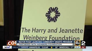 Mayor Catherine Pugh and the Harry and Jeanette Weinberg Foundation launch grant program - Video