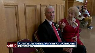 30 Polk County couples say 'I do' at group wedding on Valentine's Day - Video