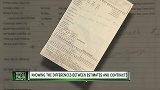 Knowing the differences between estimates and contracts