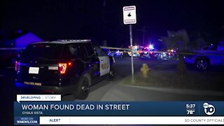 Chula Vista woman found dead in street