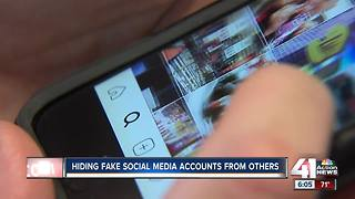 Hiding fake social media accounts from others - Video