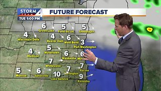 Showers clear to partly cloudy skies