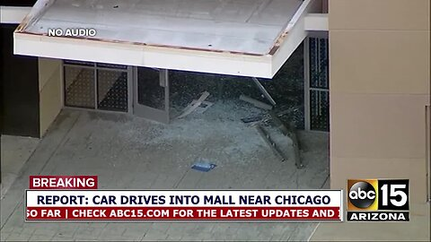 Car reportedly drives into mall near Chicago