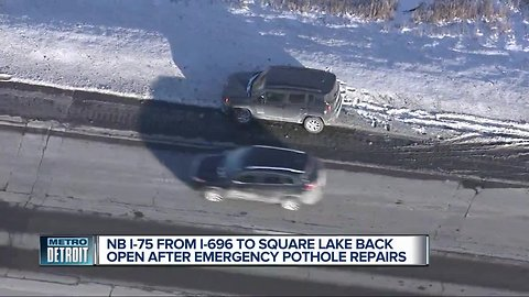 NB I-75 from I-696 to Square Lake back open after emergency pothole repairs