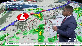 Isolated Thunderstorms Tuesday