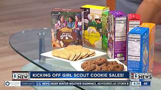 Girl Scouts host rally to kick off cookie sales - Video