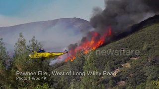 Firefighters continue to battle growing Pawnee Fire in Northern California - Video