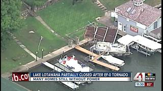 Some Lake Lotawana homes still without power after storm - Video