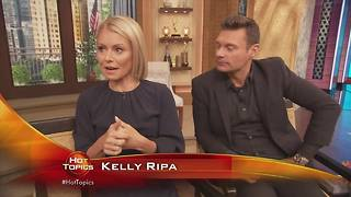 Hot Topics goes behind the scenes with Kelly Ripa and Ryan Seacrest - Video