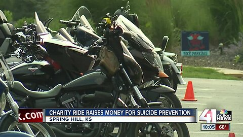Charity ride raises money for suicide prevention