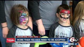 More than 150 children need to be adopted in Indiana - Video