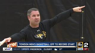 Towson men's basketball off to record start - Video