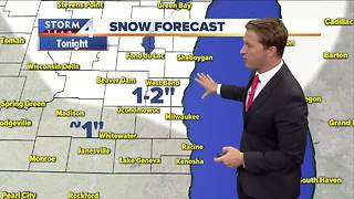 First measurable snow arrives tonight
