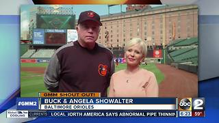 Buck, Angela Showalter say good morning from Oriole Park - Video