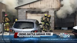 Tucson Fire Department responds to garage fire near Prince and Romero - Video