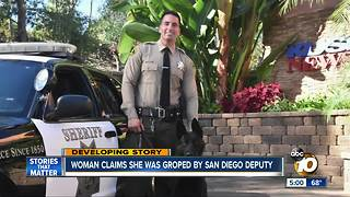 Woman claims she was groped by San Diego deputy - Video