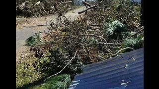 Panama City Family Returns to Damaged Home After Hurricane Michael - Video
