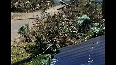Panama City Family Returns to Damaged Home After Hurricane Michael