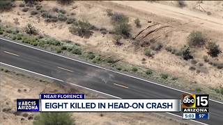 Eight people killed in head-on crash near Florence - Video