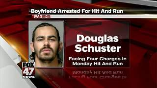 Man arrested after hit and run leaving woman in the street - Video