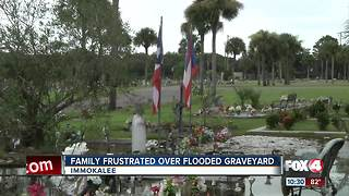 Graves flooded in Immokalee - Video