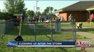 Hundreds cleanup Bellevue elementary school hit by storm