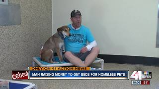 Man raises thousands for KC animal shelters - Video