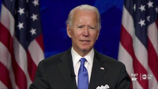 Joe Biden accepts presidential nomination on final night of the Democratic National Convention