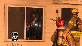 Crews respond to house fire in Lansing