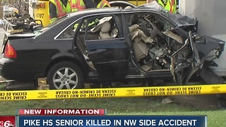 Pike High School senior killed in crash