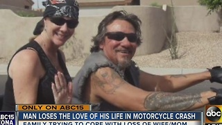 Husband, wife on motorcycle during crash on US60 at Mill Avenue - Video