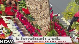 Reat Underwood featured on parade float - Video