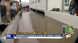 Apartments ravaged by floods get needed imporovements - Video
