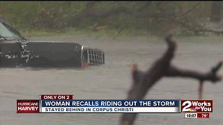 Woman recalls riding out the storm - Video