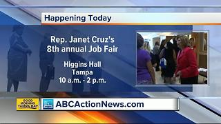 Florida State Rep. Janet Cruz to host 8th annual job fair in Tampa on Wednesday, July 26 - Video