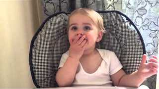 Toddler Is Disgusted by Raspberries, but Keeps Eating Them - Video
