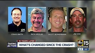 Memorial held Thursday to mark 10 years since the Phoenix TV chopper crash that killed 4 - Video