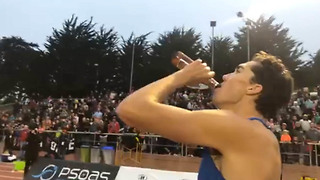 Corey Bellemore CRUSHES His Own Beer Mile World Record - Video