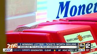 Check your tickets! Two winning Maryland Lottery tickets about to expire - Video