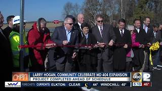 MD 404 expansion done in time for Thanksgiving travelers - Video