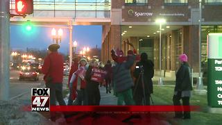 Sparrow healthcare workers picketed Tuesday - Video