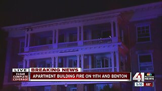 KCFD investigating cause of early-morning fire at apartment building